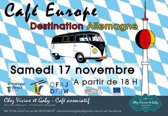 Affiche Cafe Allemagne A3 Copie