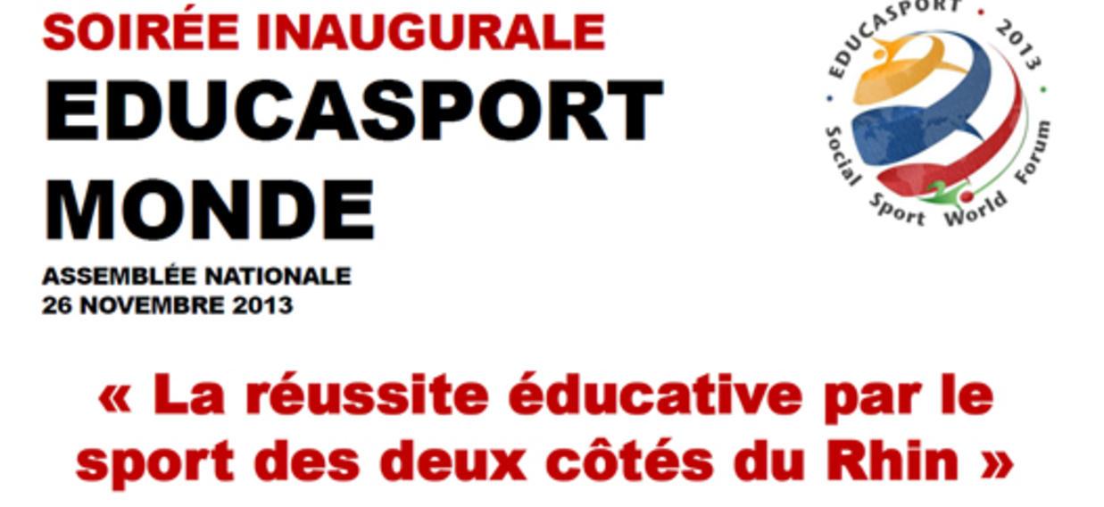 """Soirée inaugurale """"educasport monde"""", assemblée nationale, 26. novembre 2013"""